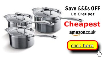Le Creuset stainless steel pots great deals here