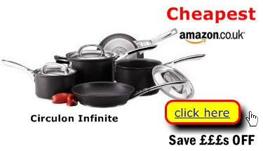 Circulon Infinite cookware discounted prices here