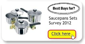 Best Buys for Saucepans User Survey